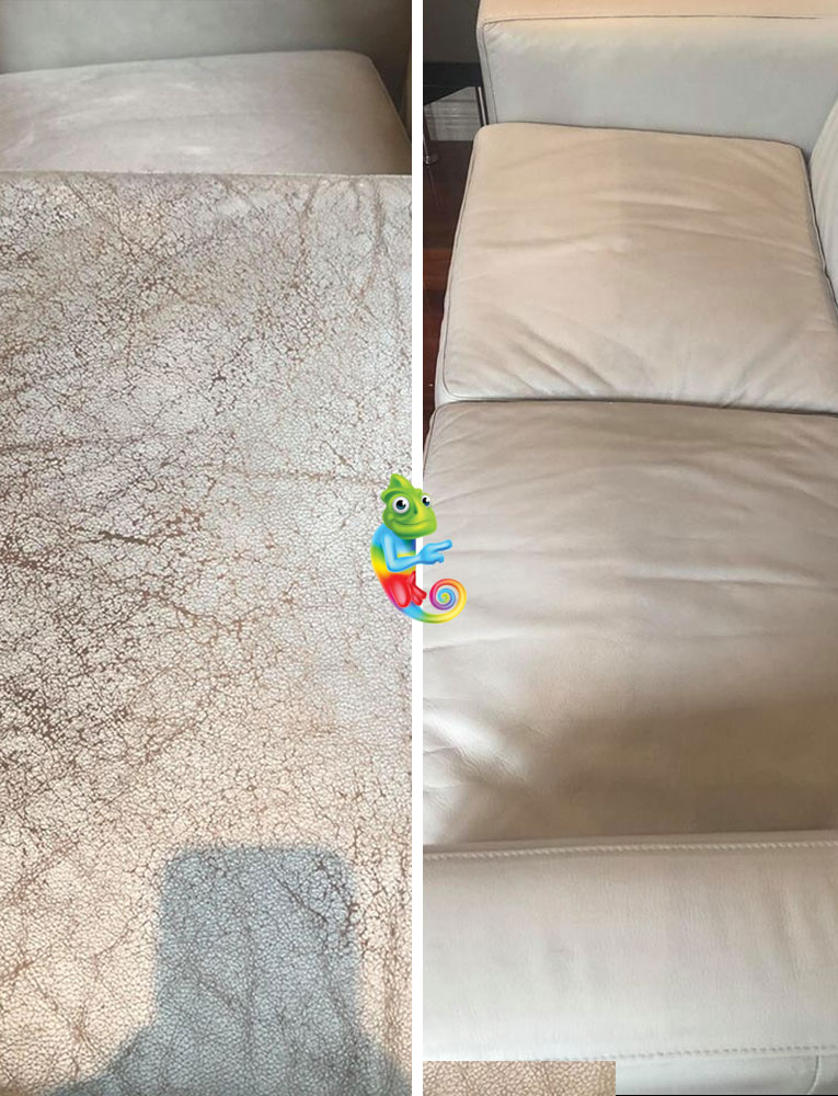 Repairing Cracked Leather Lounge