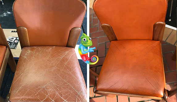 Leather Chair Dyeing & Restoration
