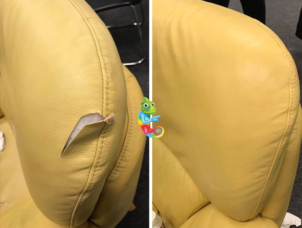 Reparing a Tear in Leather Chair