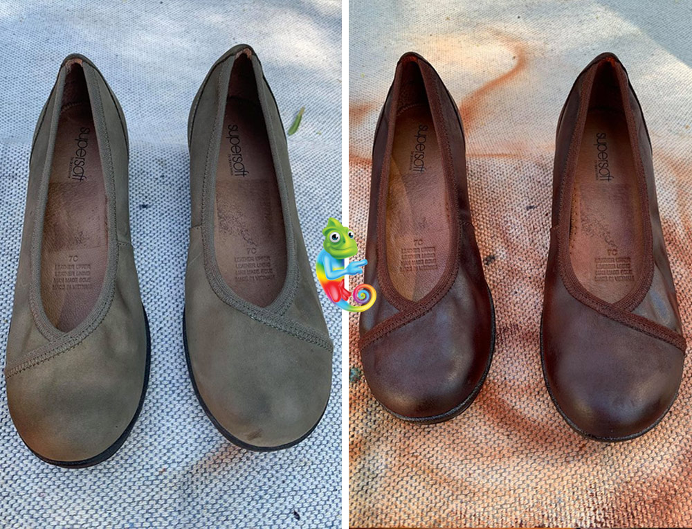 changing nubuck leather shoes colour